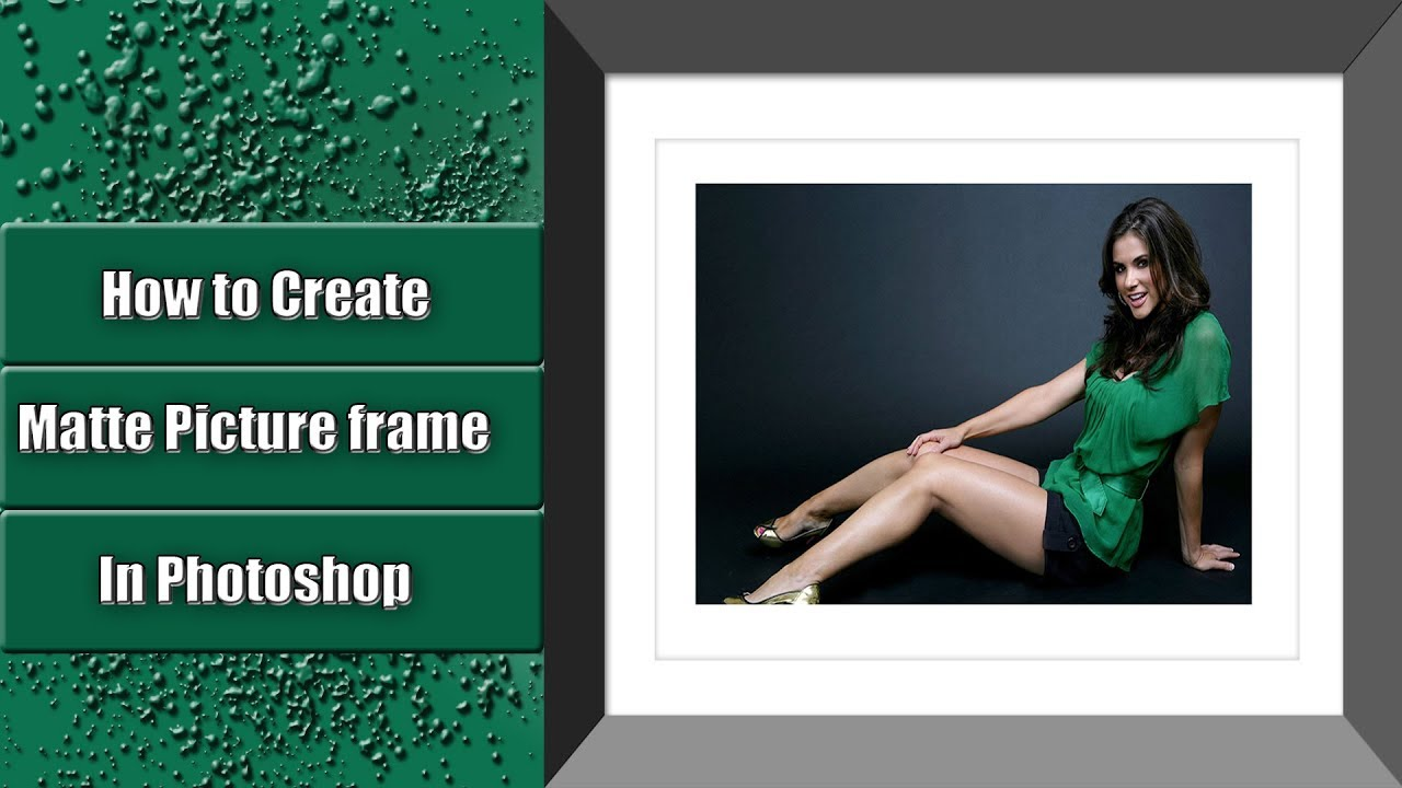 How To Create Matte Picture Frame In Photo