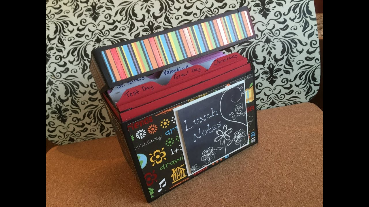 Lunch Notes Box Or Greeting Card Organizer Youtube