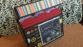 Lunch Notes Box or Greeting Card Organizer
