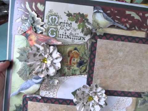 Christmas 12x12 Scrapbook Layouts Youtube