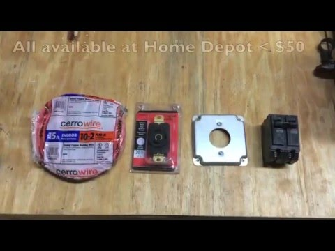 Installing a 240V outlet for electric vehicle charging