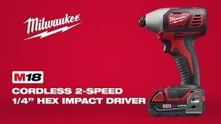 "Milwaukee® M18™ 2-Speed 1/4"" Hex Impact Driver 2657-22"
