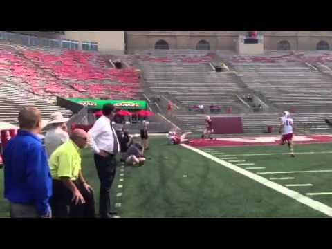 Video: Joe Ferguson intercepts a pass as Grandpa watches