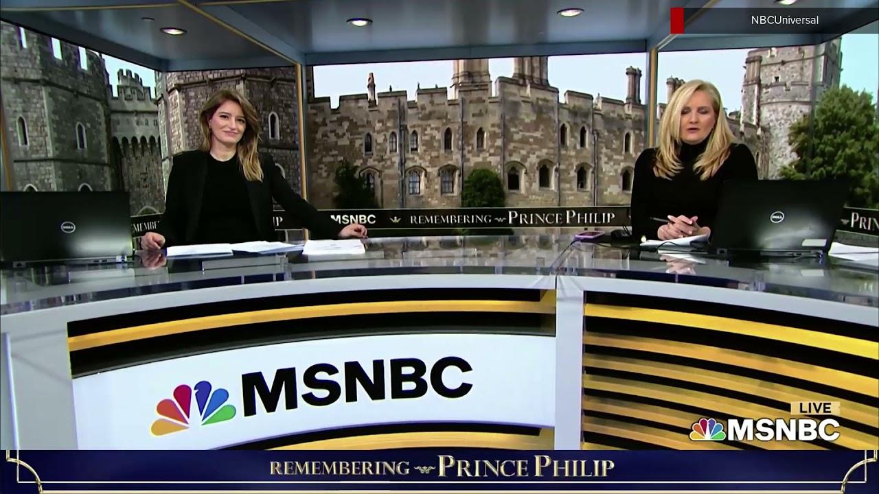 MSNBC Price Philip funeral coverage open