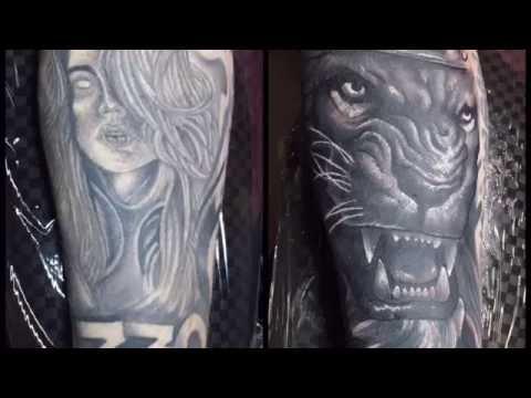 Tim Pangburn lion cover up tattoo