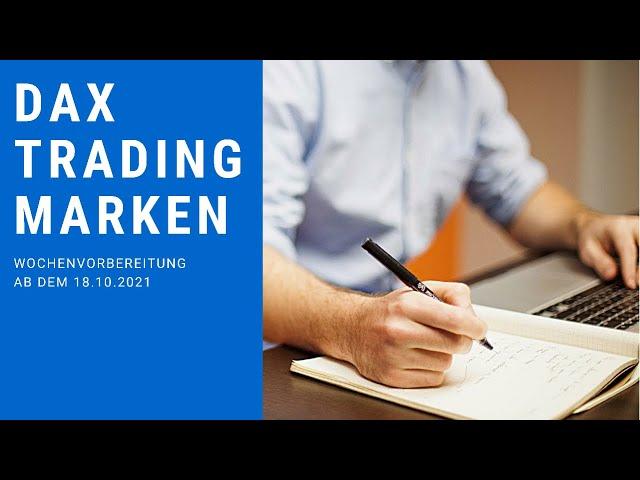 DAX-Wochenanalyse Charttechnik für Trader ab 18.10.2021: Daytrading an der Börse mit FIT4FINANZEN