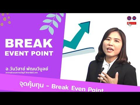 วิธีการการคำนวณหาจุดคุ้มทุน - Break Even Point