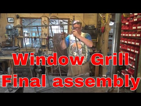 Window grill project final assembly - blacksmithing