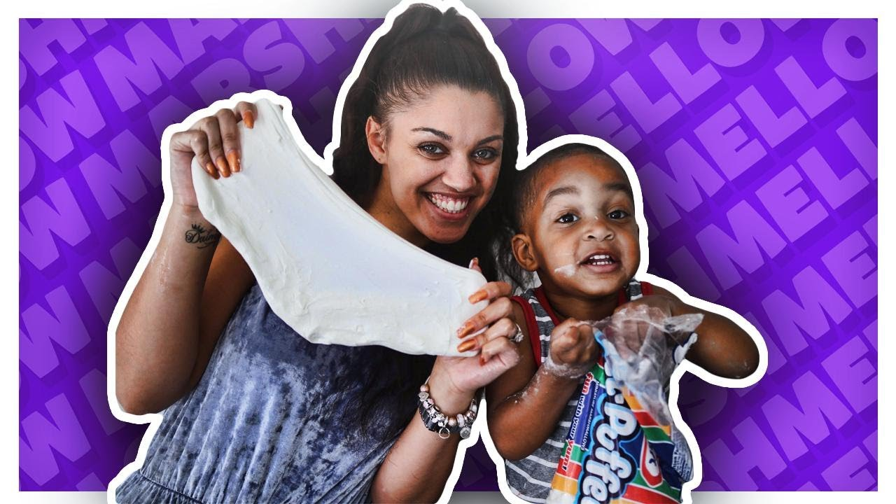 DIY EDIBLE MARSHMALLOW SLIME | GIANT FLUFFY SLIME | THE PRINCE FAMILY