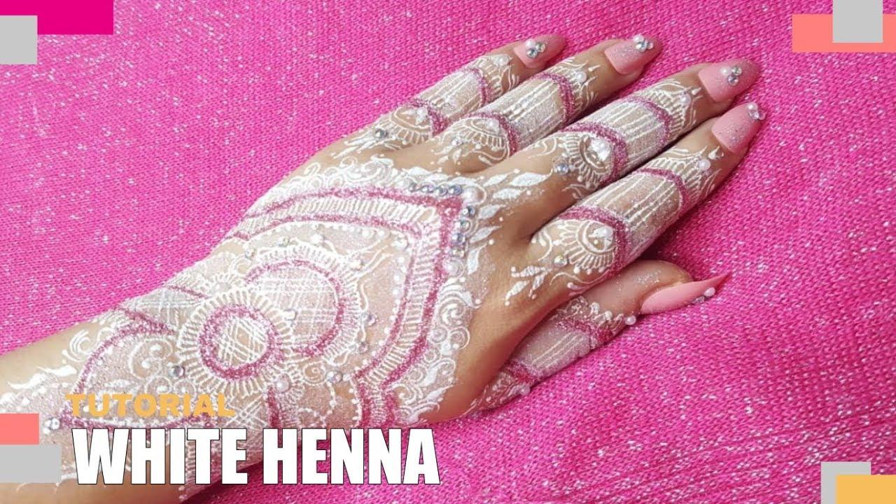 Tutorial White Henna With Glitter