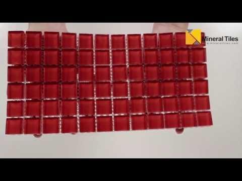 Glass Mosaic Tile Backsplash Red 1x1 - 101CHIGLABR113