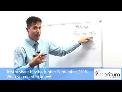 Telstra Share Buy Back. The offer explained!