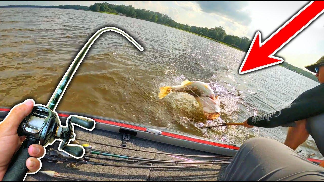 Unbelievable DOUBLE DIGIT Bass INHALES My Bait!! (Topwater Feeding Frenzy)