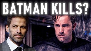 Why Zack Snyder is Wrong About Batman Killing