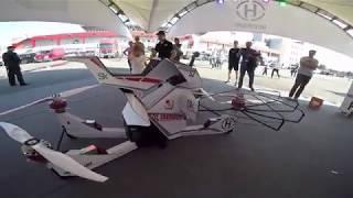 Русский летающий мотоцикл Hoverbike S3 на Moscow Raceway – максималка Hoversurf на гоночной трассе
