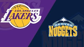 Live Lakers vs Nuggets w/ AhouseReacts
