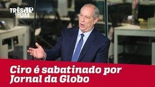 Baixar Ciro passa por sabatina no Jornal da Globo