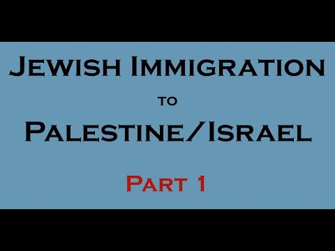 10 Facts - Jewish immigration to Palestine/Israel? (1800-1947)
