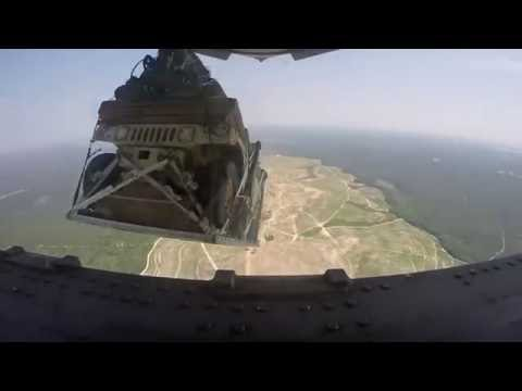 The Air Force dropped 8 armored Humvees out of a plane from 5,000 feet