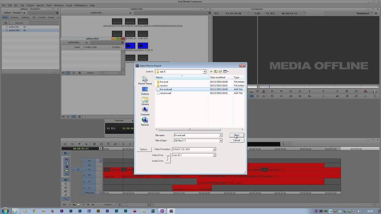 AAF export part 2 - from EDIUS to Premiere Pro & Avid