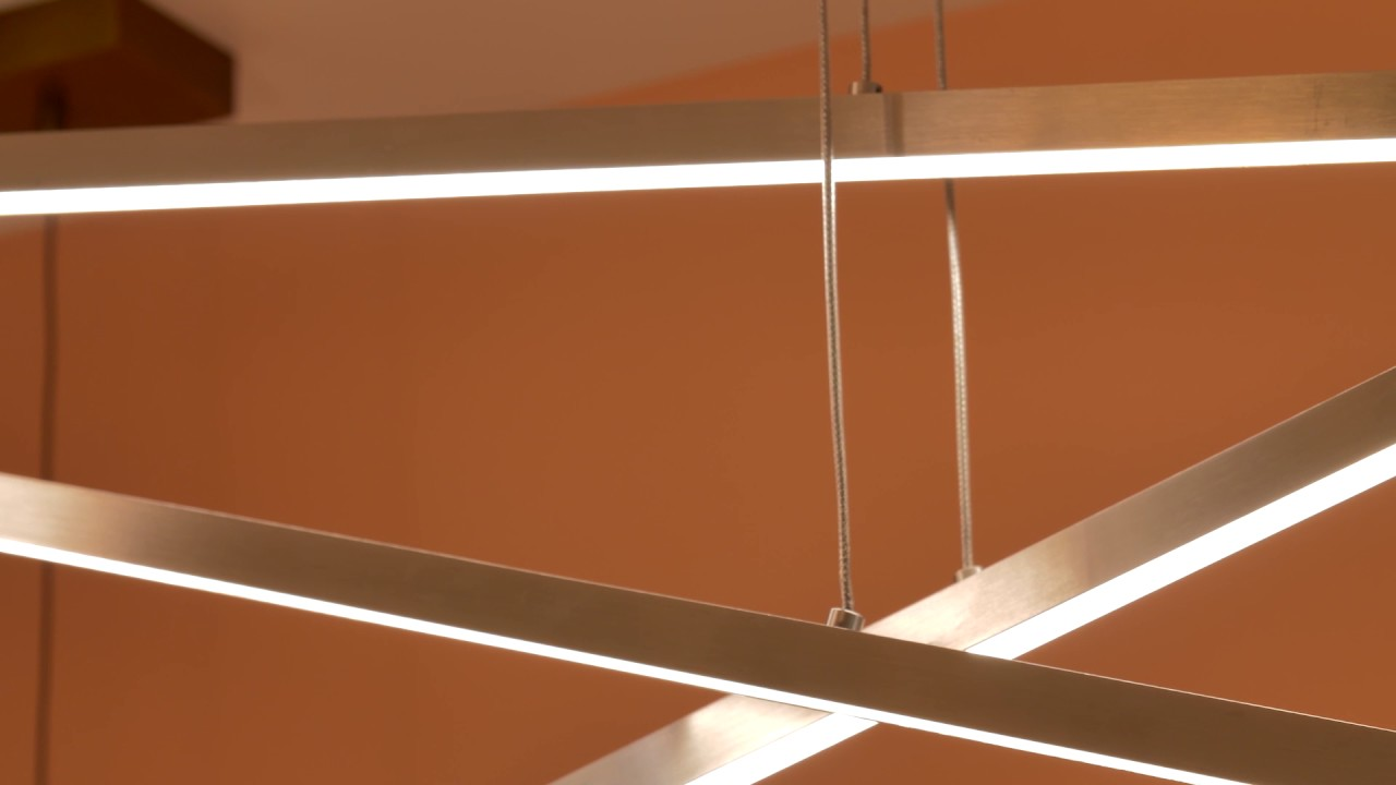 Essence trio linear chandelier by lbl lighting