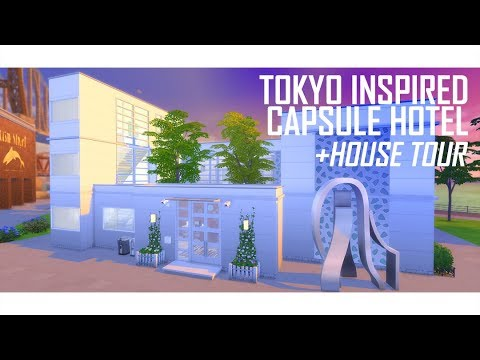 THE SIMS 4 | Capsule Hotel inspired + House Tour | BUILD