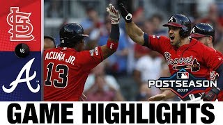 Mike Foltynewicz, Braves shut out Cards in Game 2 | Cardinals-Braves NLDS Game Highlights