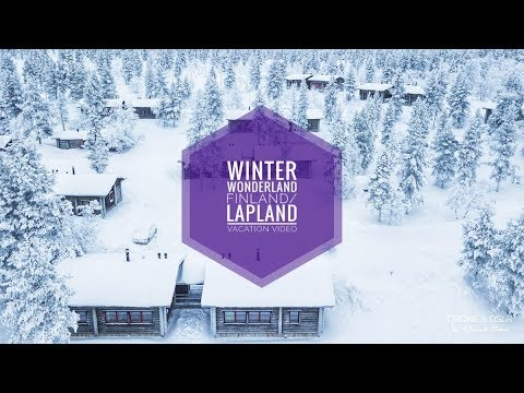Finland & Lapland Winter Vacation - Husky Safari, Northern Lights, Icebreaker (4K Drone, Yi4K+)