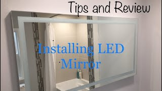 DIY LED Mirror installation (personal Tips and Review)
