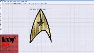 Star Trek Embroidery File Project Tutorial Using SophieSew (Digitizing)
