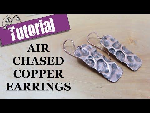 Air Chased Copper Earrings - Jewellery tutorial