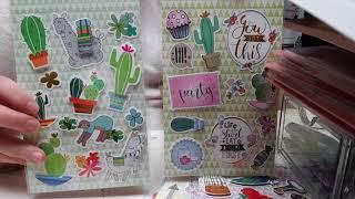 Haul action scrap 17/03/2018 nouveautè kit set de papier licorne et botanique et stickers 3D