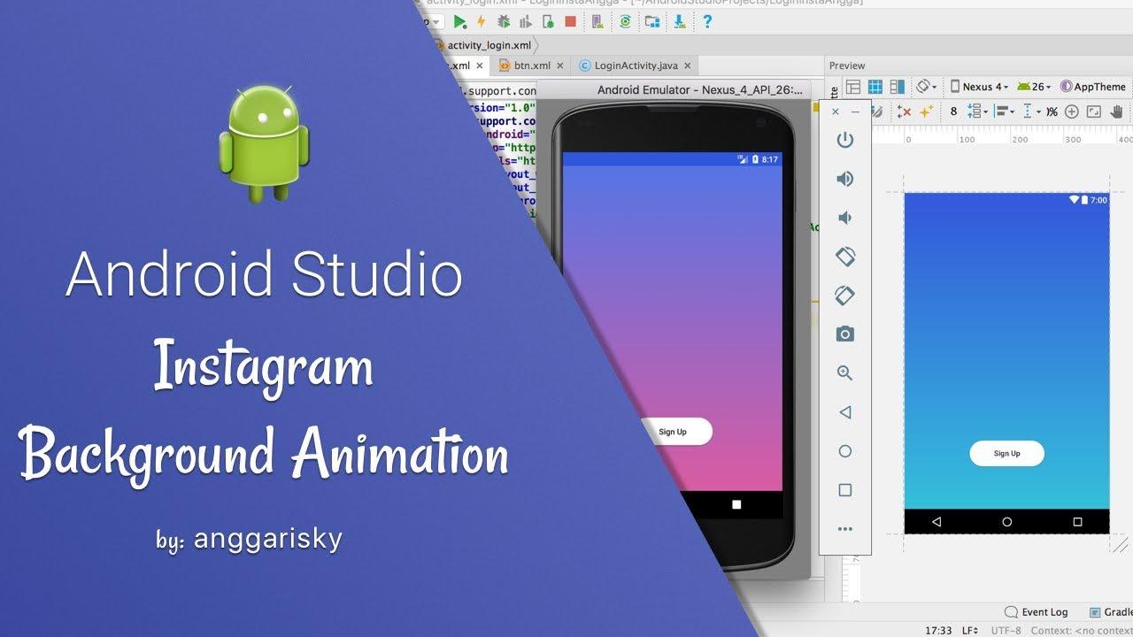 Анимация андроид студио