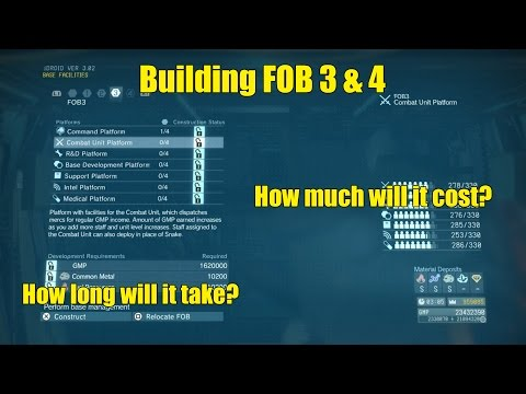 MGSV- How much does it cost to build FOB 3 and 4?