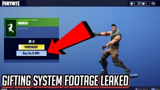 *NEW* GIFTING SYSTEM FOOTAGE *LEAKED* in Fortnite: Battle Royale! GIFTING SYSTEM IS FINALLY COMING!?