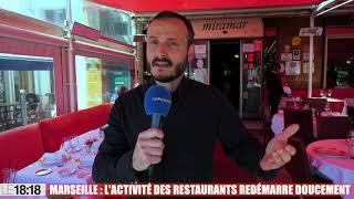 Marseille : l'activité des restaurants redémarre doucement