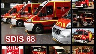 Véhicules de pompier du Haut-Rhin.