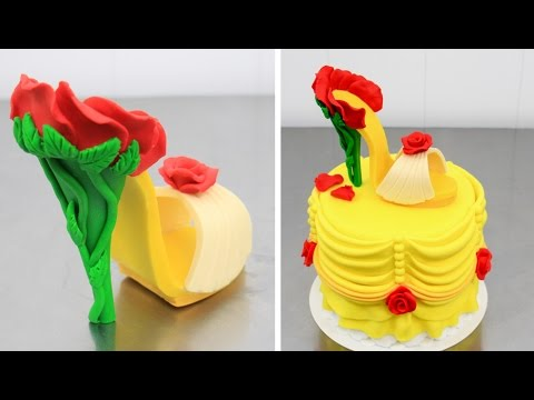 Thumbnail: Beauty and The Beast STILETTO Cake - How To Make by Cakes StepbyStep