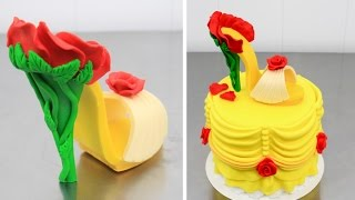 Beauty and The Beast STILETTO Chocolate Shoe Cake - How To by Cakes StepbyStep