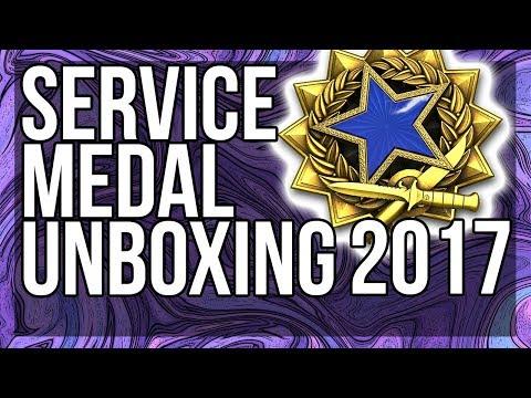 CSGO 2017 SERVICE MEDAL UNBOXING (LEVEL 3) DARK BLUE!