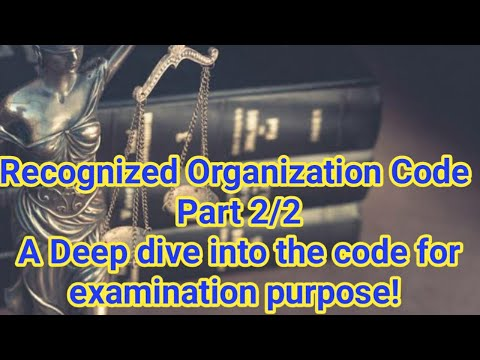 RO (Recognized Organization) Code Part#2/2 - A deep understanding & study of contents to answer well