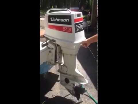 1981 70 HP Johnson outboard motor for sale