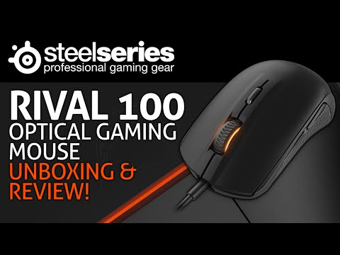 SteelSeries Rival 100 Optical Gaming Mouse Unboxing & Review!