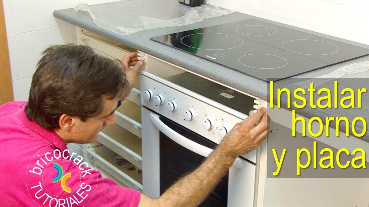 Instalar una placa de cocina y un horno (Bricocrack) - YouTube