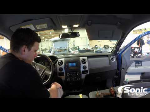 How To Remove Dash Panel & Factory Stereo | 2013 Ford F150
