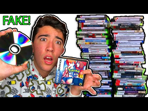 Selling 100 FAKE Games To GameStop!