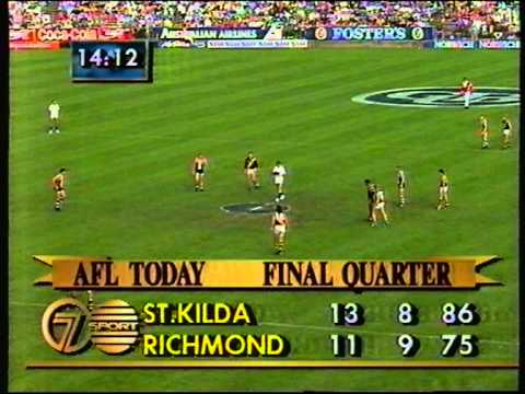 St Kilda vs Richmond  Rd 1 1991