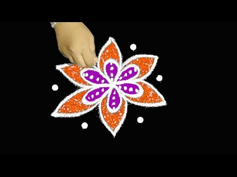 rangavalli designs for festival * 5X3 interlaced dots kolam * muggulu with colours