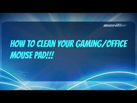How to Clean your Gaming or Office Mouse Pad!!