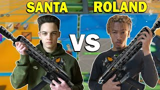 SSNSANTA vs RolandGT with *NEW* Tactical Assault Rifle!
